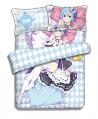 REM - 4pcs Anime Bedding Sets and Anime Bed Sheet